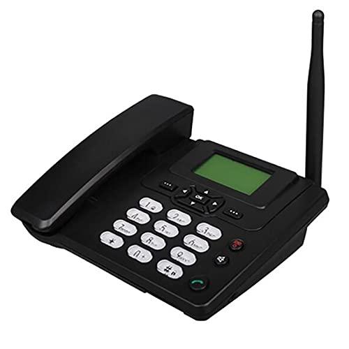 JXCAA Teléfono Cable,Teléfono con Cable De Escritorio con Cable De Doble Banda Móvil gsm Teléfono De Escritorio Negocios Identificador De Llamadas,remarcación para Teléfonos Fijos Hotel De Oficina En