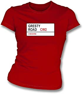 Gresty Road CW2 Women's Slimfit T-Shirt Crewe Alexandra
