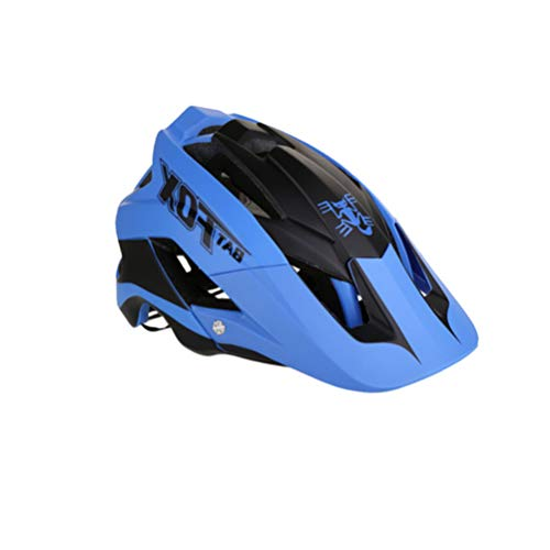 Garneck Casque de Skate Vélo Vélo Casque de Sécurité Équitation Équipement de Protection pour Le Sport de Plein Air VTT Bleu Et Noir (Taille Moyenne)