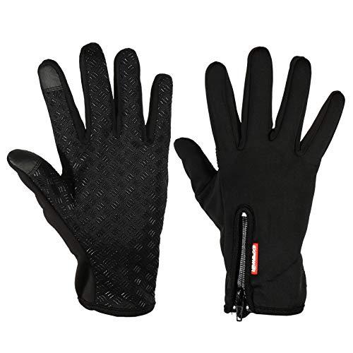 EXTSUD Guanti Touchscreen Unisex Invernali Antivento da Moto/Bici per Ciclismo Alpinismo Outdoor Primavera Autunno Inizio Inverno Nero