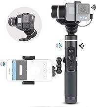 Feiyu G6 Kit 3-Axis Action Camera Gimbal Stabilizer for GoPro Hero 8 Hero 7, Splash Proof Selfie Stick Gimbal for Go pro Hero 6 5 Yi cam 4K, with MiniTripod Phone Clip Hero 8 Adapter Kit