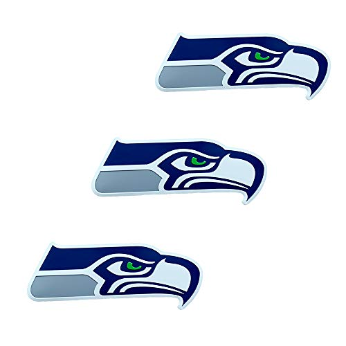 3PCS 3D Metal Seahawks Logo Stickers,Used for Car Stickers, Door Stickers, Computers and Other Arbitrary Positions (Seah awks Sticker)