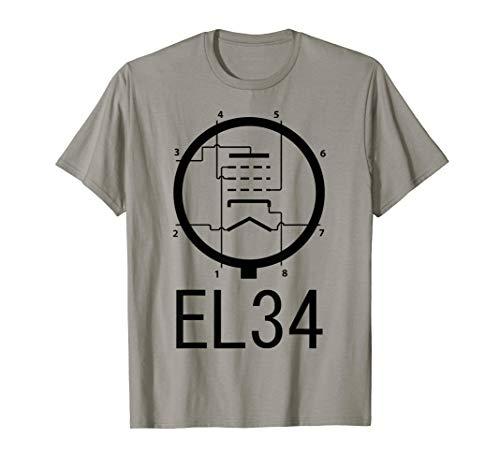 EL34 Vacuum Tube Valve Diagram T-shirt Guitar amplifier