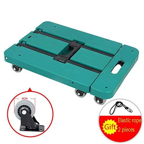 SYue Klappbarer Handwagen Schwerlast-6-Rad-Gepäckwagen, für Reisen, Auto, Umzug und Büro - Tragbarer Klappwagen