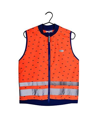 gofluo. Jackson Sicherheitsweste - Reflektorweste - Fluo Neon - Warnweste - Reflektierende Weste - Sichtbar im Dunkeln für Wanderer, Joggen, Fahrrad, Motorrad - Orange - 116