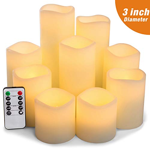 2x Jingles led timer candle with flicker effect