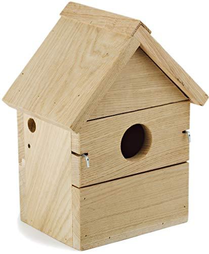 NEST TO NEST Multi Nistkasten I Vogelhaus Eichen Holz I Nistkästen für Blaumeise, Kohlmeise, Haubenmeise, Rattenfänger, Fliegenfänger I Brutkasten für vögel I Premium Qualität