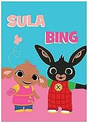 Coperta Plaid Morbida e Calda per Bambini Pile con stampa (Bing e Sula)