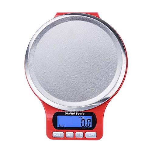 Báscula de cocina digital multifunción, Báscula para alimentos, Baking Scale para cocinar por, Pantalla grande, Fácil de limpiar, Ultra Slim,3kg/1g