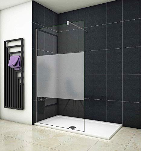 Aica Sanitär 100 x 200cm Duschwand Duschtrennwand 10mm Sicherheitsglas Walk in Dusche