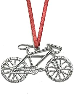 Mountain Bike Biker Bicycle Triathlon Keepsake Christmas Ornament Pewter