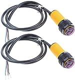 ICQUANZX 2 pezzi E18-D80NK Modulo sensore fotoelettrico a infrarossi per evitare ostacoli