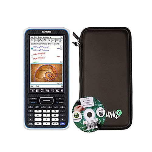 Casio Classpad II (Casio FX-CP400) + CD de aprendizaje CALCUSO (en alemán) + Funda protectora SafeCase