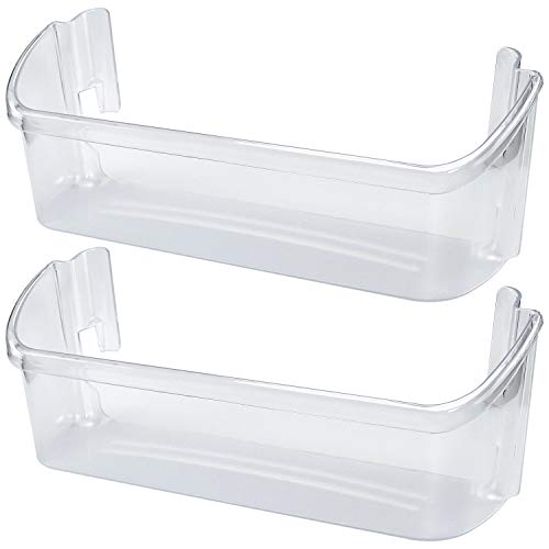 240323002 Door Shelf Bin For Frigidaire Westinghouse Kenmore By Romalon Part#240323005 240323006 240323009 240323010 890955 AP2115742 PS429725 EAP429725 Clear Plastic (Pack of 2)