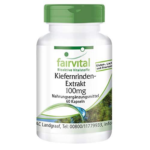 Kiefernrinden Extrakt 100mg - HOCHDOSIERT - Pinus Pinaster atlantica - 95{9fbe084795cbaed010bbe359d15db0053c8668c96cae7ec3c671fbc3d8795c80} Proanthocyanidine - VEGAN - 60 Kapseln
