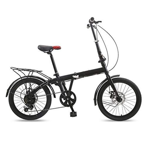 TXTC Bicicleta Plegable Estudiante Ocio Ligero Bicicleta