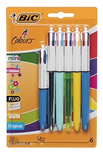 BiC Kugelschreiber, mittlere Spitze, 6 Stück