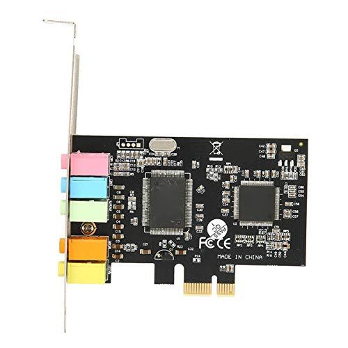 Socobeta Scheda Audio incorporata Suono Surround a 6 canali Slot PCI-Express Scheda Audio Scheda Audio Scheda PCI ‑ E a 24 Bit per Computer Desktop CA
