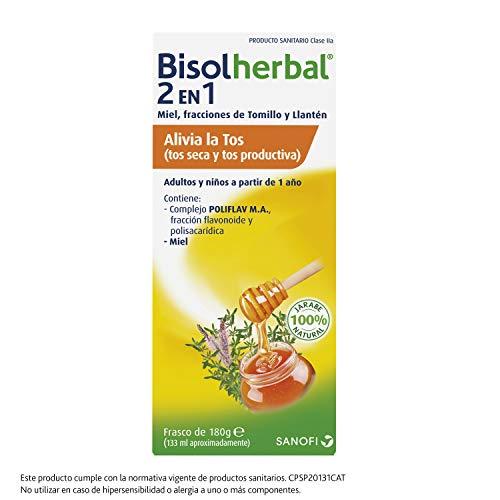 Bisolherbal 2 en 1 - tos seca y productiva - Jarabe 133ml - Solución para combatir la tos - Ingredientes de origen natural