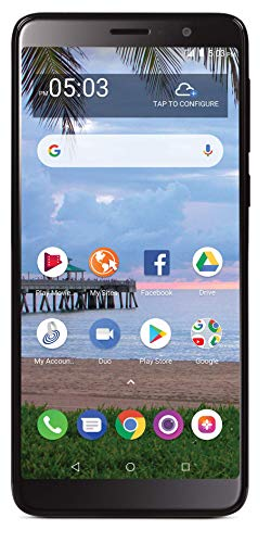 Tracfone TCL A1X 4G LTE Prepaid Smartphone (Locked) - Black - 16GB - SIM Card Included - CDMA -  TFALA503DCP