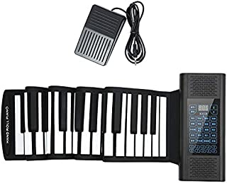 Hand-rolled Electronic Piano 61-key 88-key Portable Piano Keyboard Thickened Professional MIDI Digital Piano Pad (Color : ...