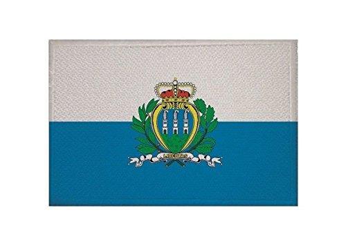 U24 Aufnäher San Marino Fahne Flagge Aufbügler Patch 9 x 6 cm