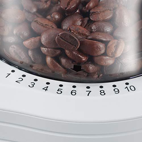 Severin KM 3873 Mahlwerk-Kaffeemühle weiß / silber - 3