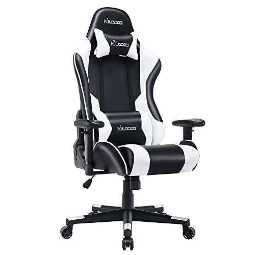 Musso Ergonomic (White) Gaming Chair Adj...