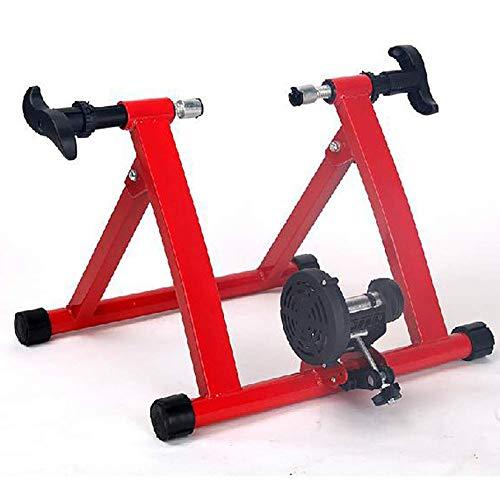 YAMMY Klappbares Indoor-Bike-Fahrrad Magnetischer Turbotrainer Übung Fitness-Training Indoor Stationärer Übungsstand Fitness Fitness einstellbar Verwenden Sie Ihr Fahrrad als E (Heimtrainer)