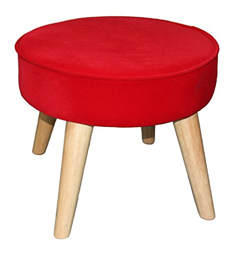 Lowest Prices! Ore International 13.5 Bright Red Mid-Century Foot Stool
