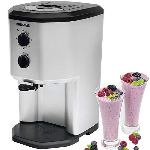 Gino Gelati GG-95W  - Gelatiera con compressore, per gelato, yogurt gelato, frappè e per rinfrescare bevande