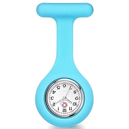 HYLK Watc Krankenschwesteruhr für Damen, Studenten, Praktikum, Taschenuhr, akademische Schule, niedlich, wasserdicht, ideal für Ärzte und Krankenschwestern (Farbe: Blau, Größe: 8,6 x 4 cm)