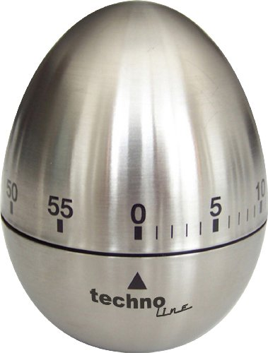 Technoline KZW II analoge wekker met korte tijd ei, metaal