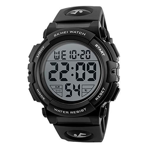 CZDXM Uhr wasserdichte Elektronische Uhr Großes Zifferblatt Sportuhr Mode Multifunktionale Outdoor-Studentenuhr