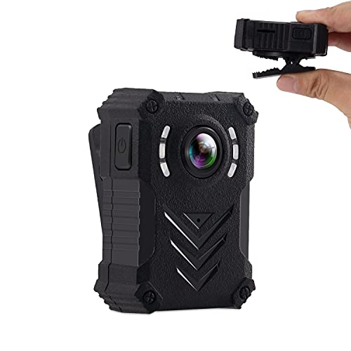 Body Camera HD 1080P with Infrared Light WearablePolice Worn Bodycam Pocket Clip for Office, Security Guard, Home, Car, Bike, Hiking