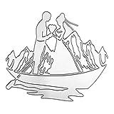 PT-1 KMKMING Pareja Set Barco Metal Troqueles De Corte De La Plantilla De Acero Al Carbono De Corte Con Troquel Sello De Scrapbooking DIY Del Álbum Tarjeta De Papel Del Bolsillo De Álbumes