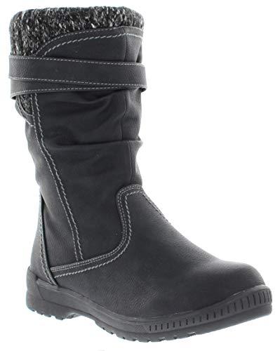 sporto Women's Emma Waterproof Fashion Snow Boots, Black, 10 M US