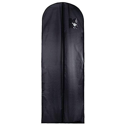 Hangerworld - 2 Custodie abito da sposa porta abito da viaggio con tracolla nero - 182 cm