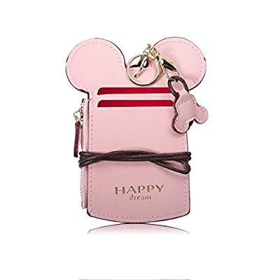 Neck Pouch, CHARMINER Card Holder Wallet, Neck Bag Travel Documents Purse, Cute Animal Shape for Women