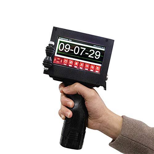 DRAKE18 Pistola de Etiqueta de Precio portátil, Impresora de inyección de Tinta portátil Inteligente 4.3in Fecha de Pantalla táctil Código QR código de Barras Impresora de Cartucho de Regalo