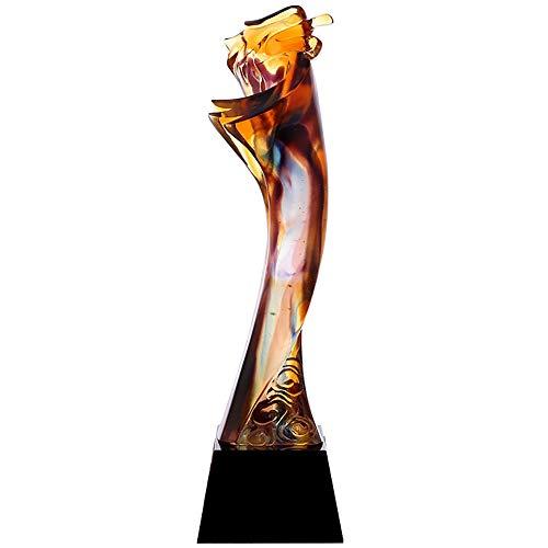 ELF di Alta qualità in Vetro Trofeo Nuoto Concorso Trofeo dei Dipendenti di Fine Anno Premio Salto in Alto Concorso Premiazione Regalo Tiro con L'Arco Premio Campione Yellow
