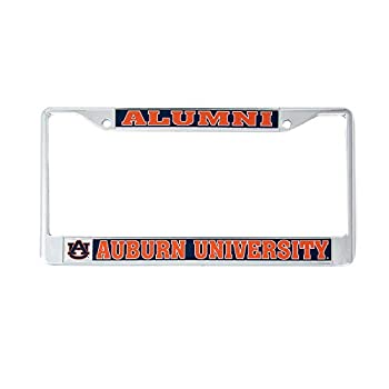 Desert Cactus Auburn University Tigers War Eagle Metal License Plate Frame for Front or Back of Car Officially Licensed Plainsmen  Alumni  C