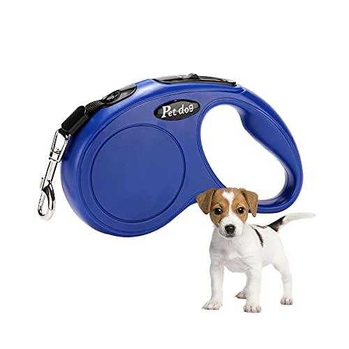 Correa retráctil para perros de 5 m con sistema de frenado seguro ajustable para perros de hasta 20 kg