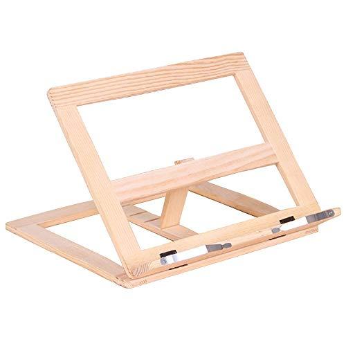 MOMSIV supporto regolabile in legno per ricettario o libri