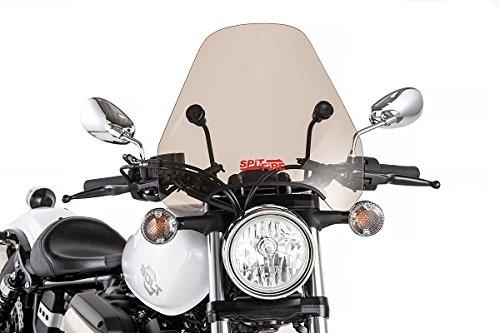 Slipstreamer S-06-CHR-T Motorcycle Windshield, Smoke