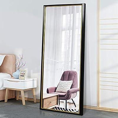 "PexFix Floor Mirror Full Length Mirror Bedroom Modern Style Standing Mirror Hanging Mirror Wall Mounted Mirror 65"" x 22"""