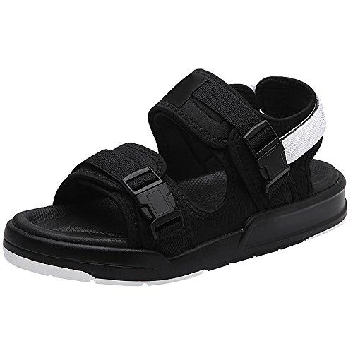 rismart Mujer Señoras Sandalias Playa De Verano para Caminar Zapatos Calzado SN020410(Negro,EU37.5)
