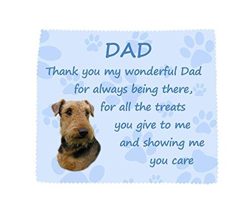 Starprint sublimatie Airedale Terrier 'Thank You Dad' microvezel doek leuke vaders dag verjaardagscadeau van de hond