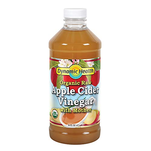 Dynamic Health Organic Cider Vinegar with Mother, Raw Apple, 16 oz
