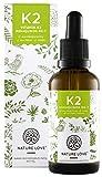 NATURE LOVE Vitamin K2 MK-7-200µg, 1700 Tropfen, 50ml. Höchster All-Trans Gehalt 99,7% und...
